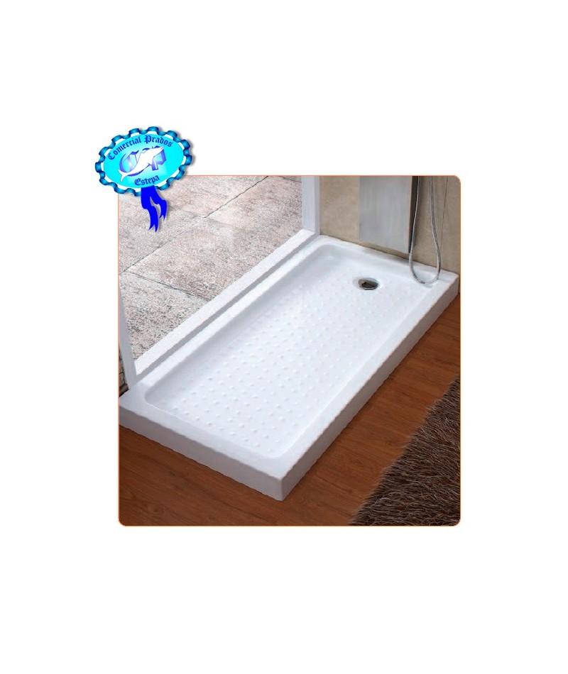 Plato ducha acrilico 1600x700x100 rectangular comercial for Plato ducha acrilico
