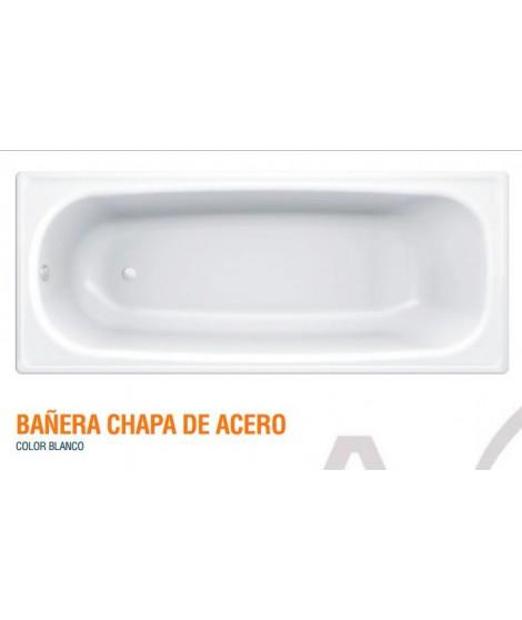 BAÑERA CHAPA DE ACERO 1700X700X385 BL