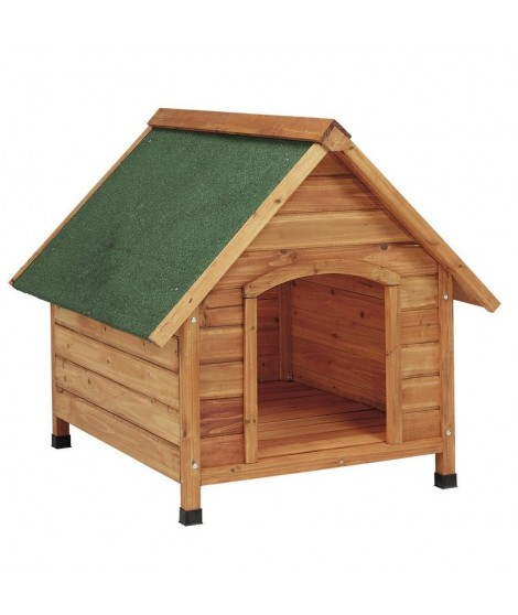 Casetas madera para perros 2 aguas grande