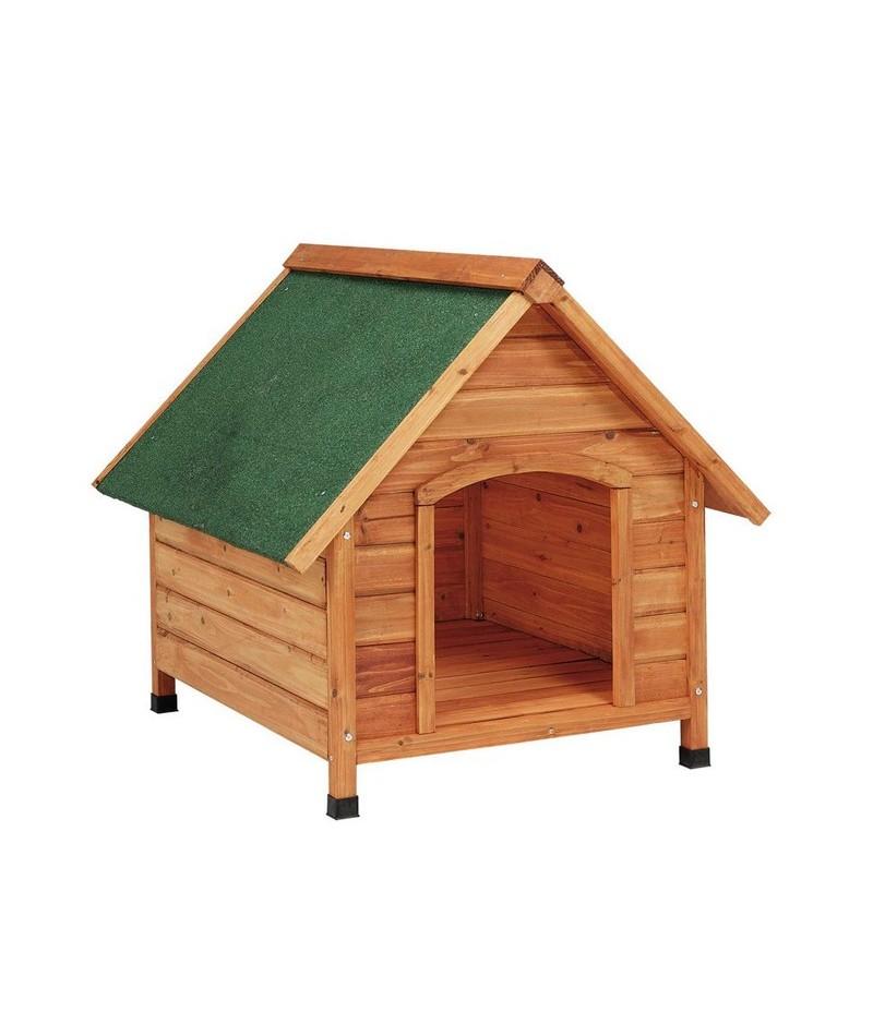Casetas madera para perros 2 aguas mediana comercial prados - Caseta perro madera ...