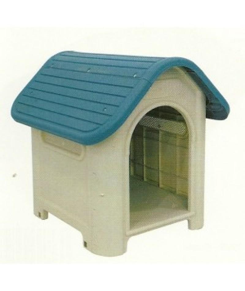 Caseta perro pl stico dog house comercial prados for Caseta perro pvc