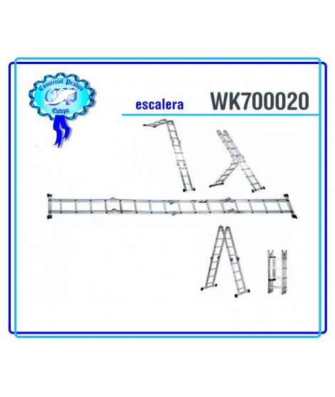WK 700020 Escalera alumínio multiuso werku