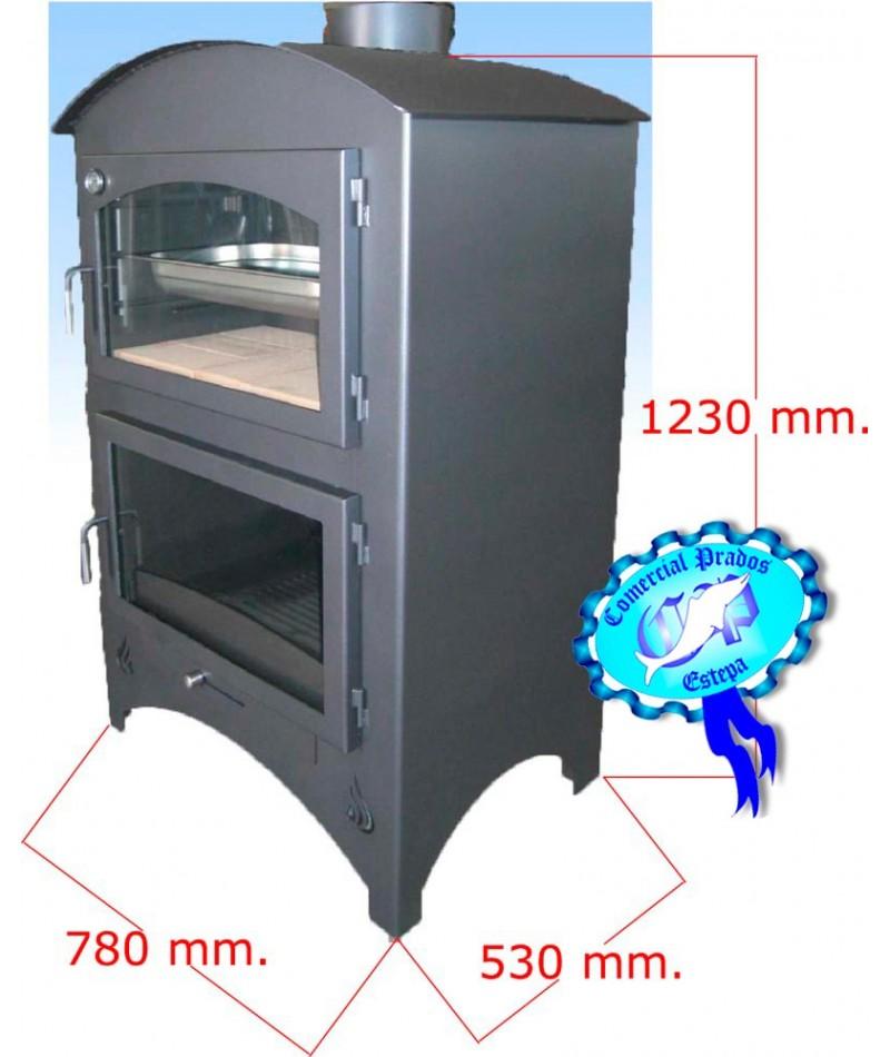 Estufa de le a b1 con horno barata - Chimeneas para hornos de lena ...