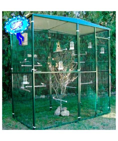 Voladero pajarera jardin para loros 2 m2 (2*1 m) 054005