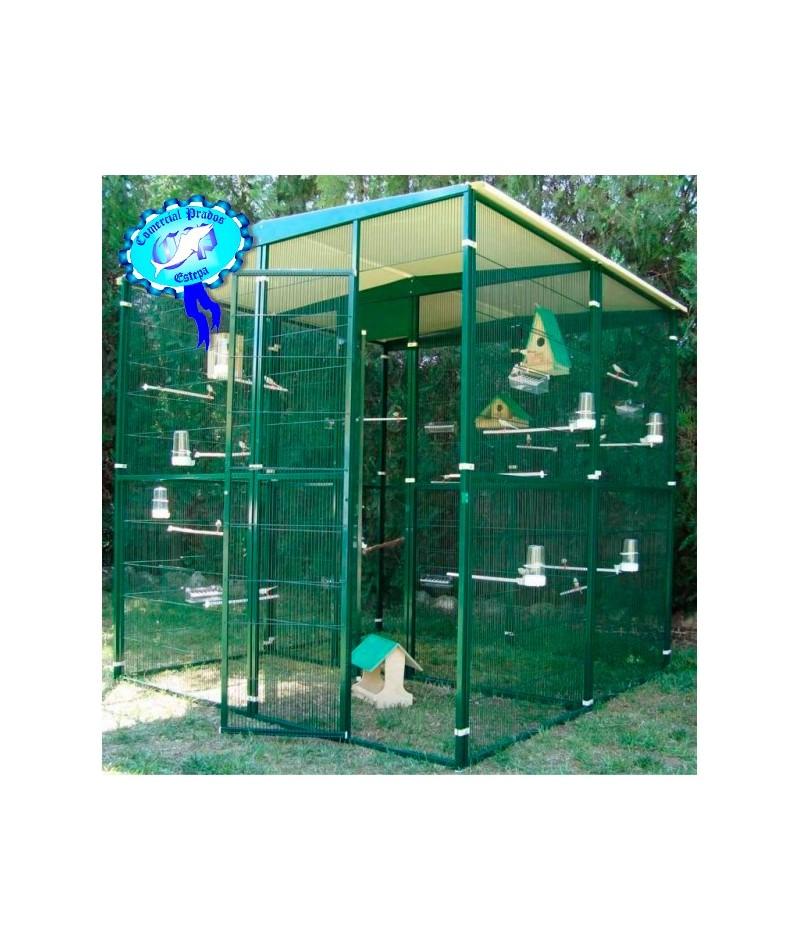 Voladero pajarera jardin para loros 4 m2 2 2 m partido for Pajarera jardin