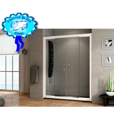 Mampara de Baño y ducha plata serie A mod A051