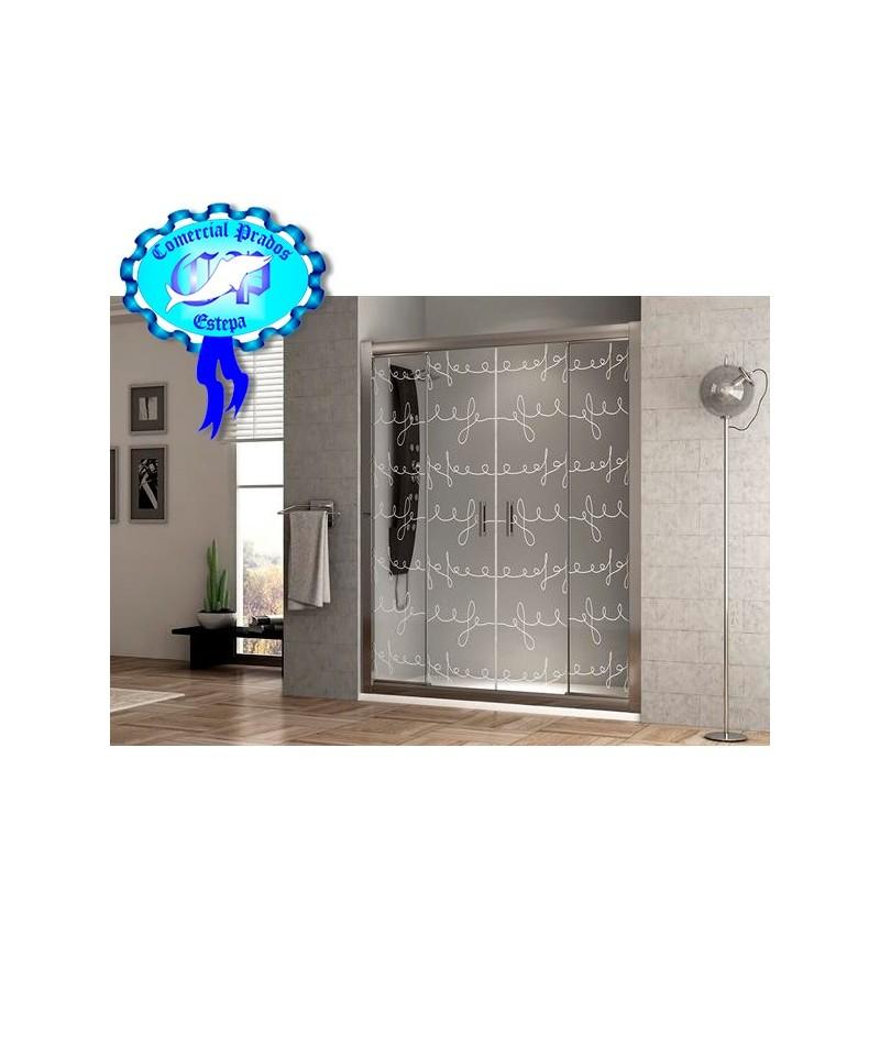 Mamparas Para Ducha La Plata:Oferta Mampara FRONTAL de ducha color plata barata