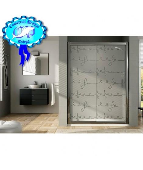 oferta Mamparas de ducha baratas- Mampara perfil plata