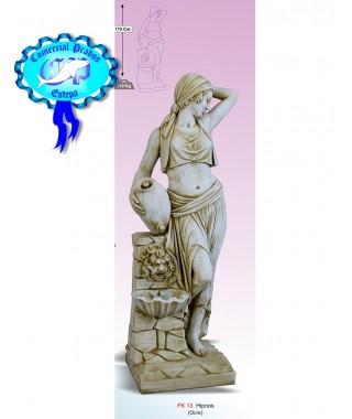 Figura de jardin Hipnos fabricada en piedra artificial