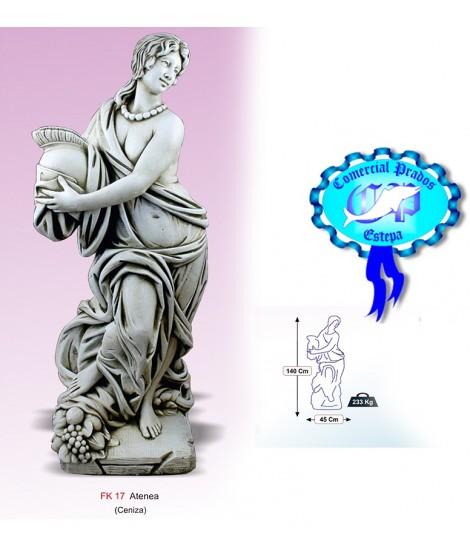 Figura de jardin Atenea fabricada en piedra artificial