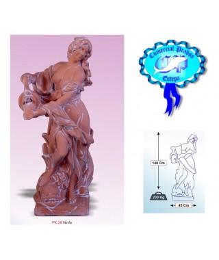 Figura de jardin Ninfa fabricada en piedra artificial