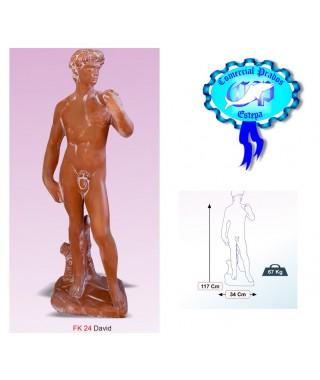 Figura de jardin David fabricada en piedra artificial