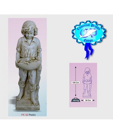 Figura de jardin Pedro fabricada en piedra artificial