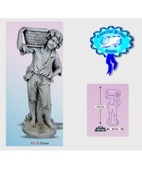 Figura de jardin Daniel fabricada en piedra artificial