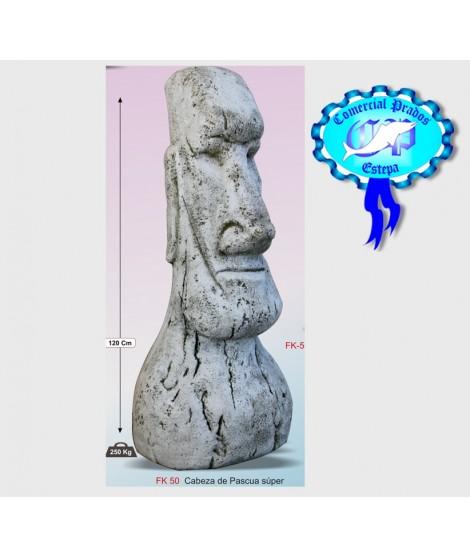 Figura de jardin cabeza de pascua super fabricada en piedra artificial