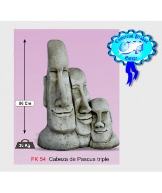 Estatua Cabeza de Pascua Triple Básico