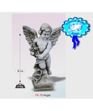 Figura de jardin Angel fabricada en piedra artificial