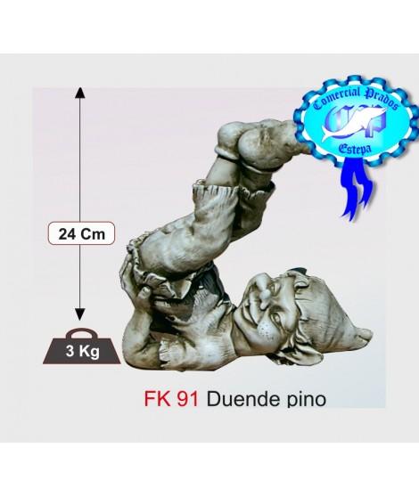 Figura de jardin duende pino fabricada en piedra artificial