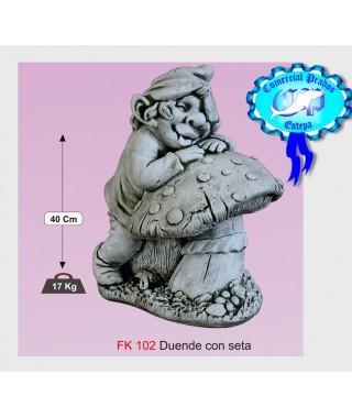 Estatua Duende con Seta