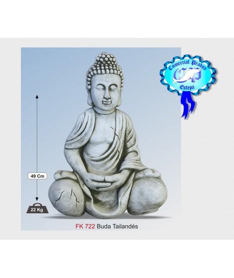 Figura de jardin Buda Thailandes fabricada en piedra artificial