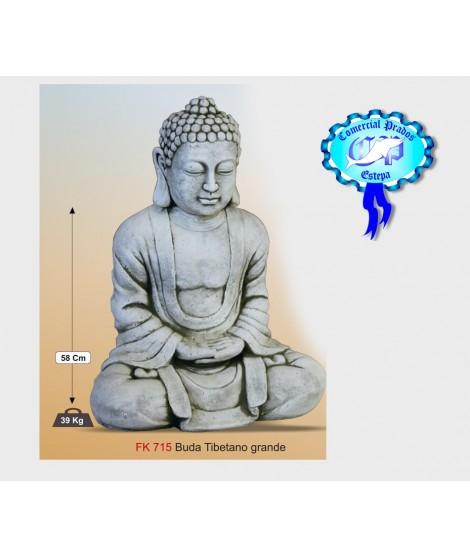 Figura de jardin Buda Tibetano grande fabricada en piedra artificial