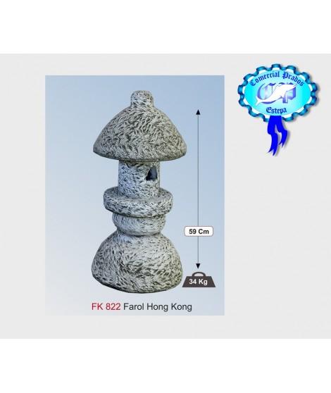 Figura de jardin farol honk kong fabricada en piedra artificial