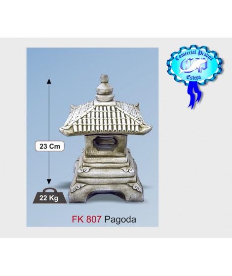 Figura de jardin pagoda fabricada en piedra artificial