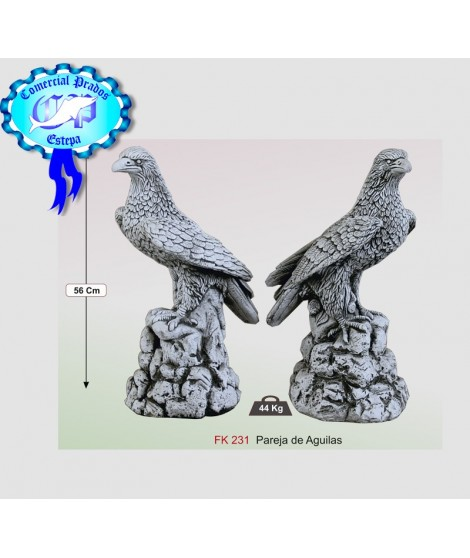 Estatua para jardín pareja de aguilas