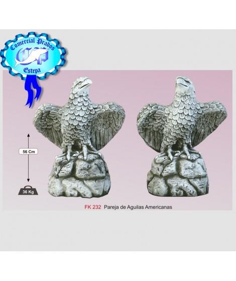 Estatua para jardín pareja de aguilas americanas