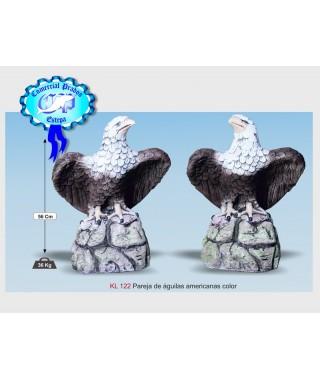 Estatua Pareja de aguilas americanas color