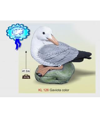 Estatua Gaviota color