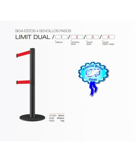 Poste de cinta extensible LIMIT