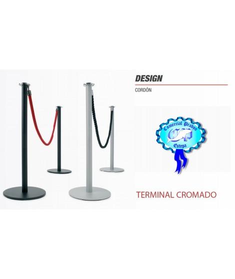 Poste de cinta retaractil DESIGN con terminal cromado