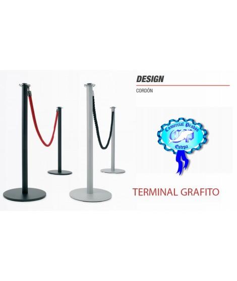 Poste de cinta retaractil DESIGN con terminal grafito