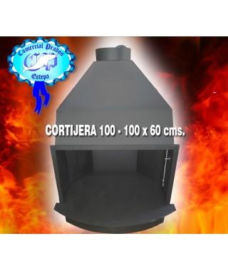 Chimenea-hogar insertable Baratt cortijera 100