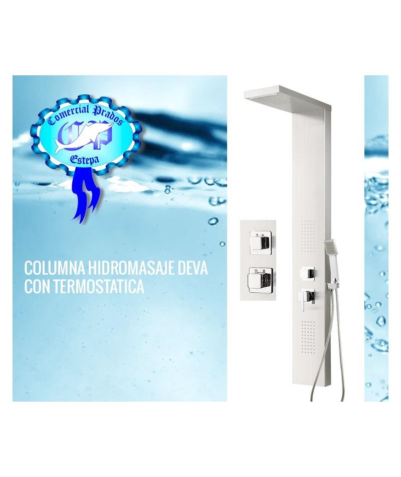 Columna hidromasaje deva con termostatica for Columna termostatica