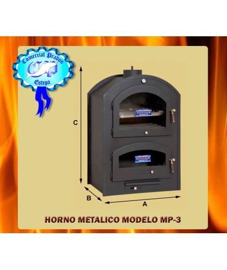 Horno metalico de leña chapa de acero 70 MP-3 - 652
