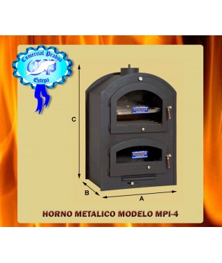 Horno metalico de leña acero inoxidable 100 MPI-4 - 652