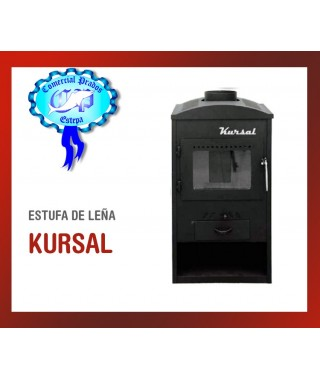 ESTUFA DE  LEÑA KURSAL SALIDA 150MM 6Kw