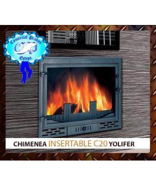 Hogar chimenea insertable de leña C20 Yolifer - 458