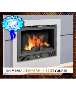 Chimenea insertable de leña Yolifer 1103 de ferlux