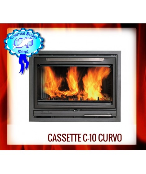 Compacto-chimenea C-10 CURVO HIERRRO FUNDIDO PINTADO, HERGOM - 2010900