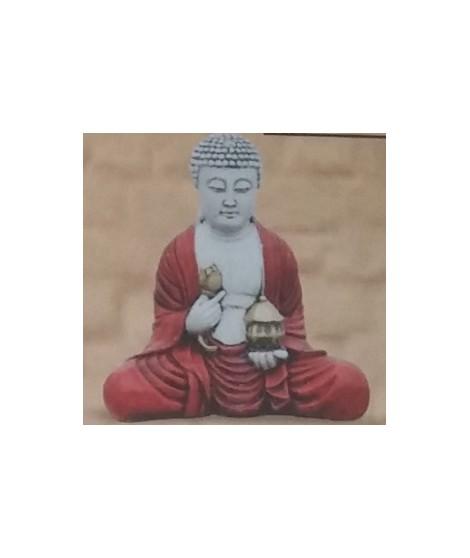 Buda con Farol de 45 Cm