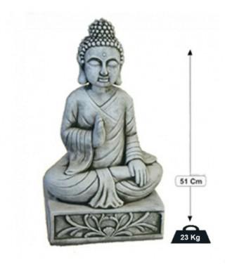 Monje con Pedestal Serie Oriental