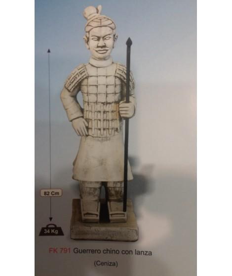 Figura de Guerrero Chino con Lanza