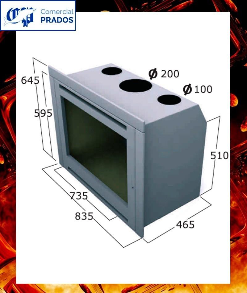 Chimenea cassette insertable int102 focgrup comprar - Chimeneas cassette precios ...