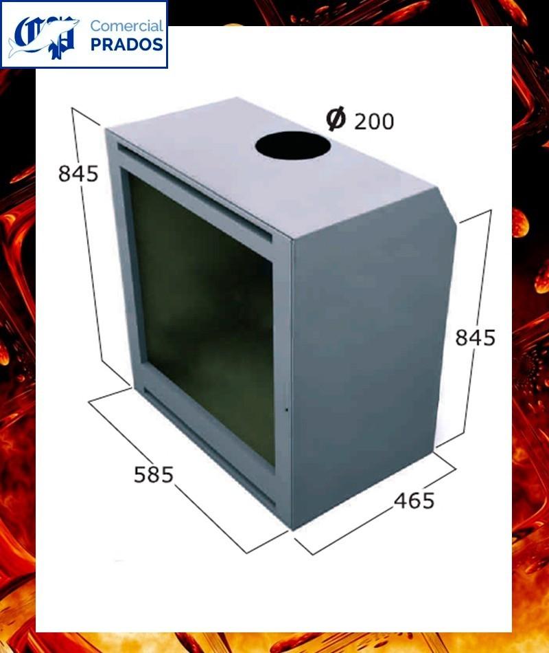 Chimenea cassette insertable int110 focgrup comprar - Cassette para chimeneas ...