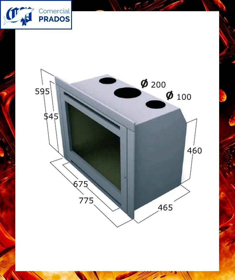 Chimenea cassette insertable intr108inox focgrup comprar - Cassette para chimeneas ...