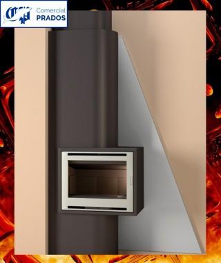 Revestimiento CU70/INOX frontal para int110 en acabado acero inox. - FOCGRUP