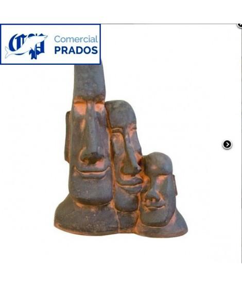 Estatua decorativa Cabeza de Pascua Doble Óxido